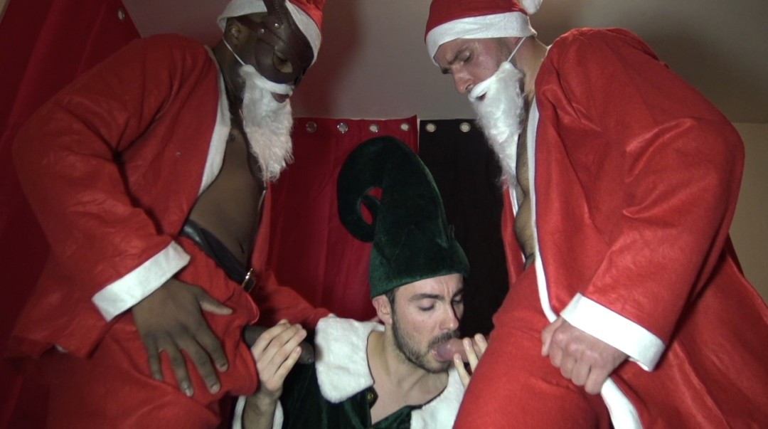 Fucked by 2 santa claus for christmas gay porn video on Crunchboy