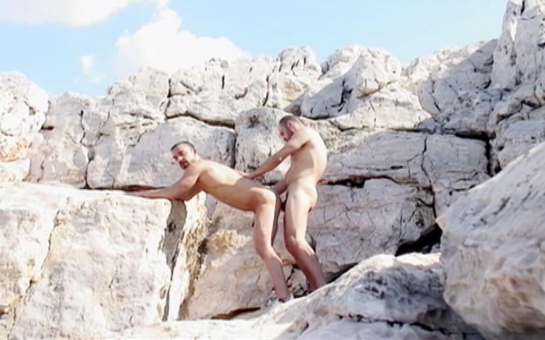 Nudists shoot in the air