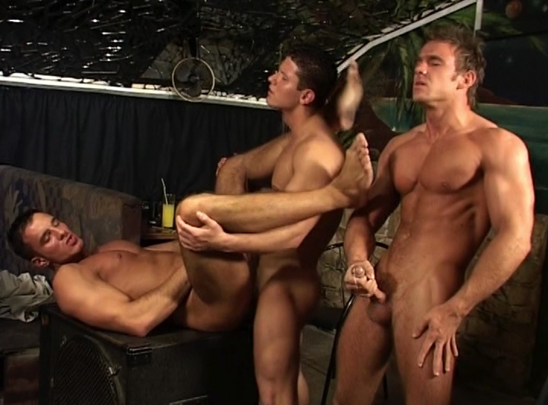 Two young cock for passive hunk