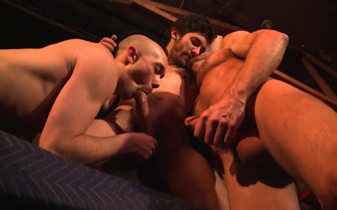 Three cum-gushing studs