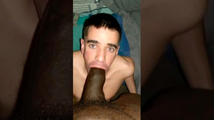Open your mouth of a bitch for my big black cock