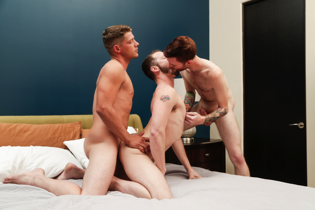 Sexy gay threesome
