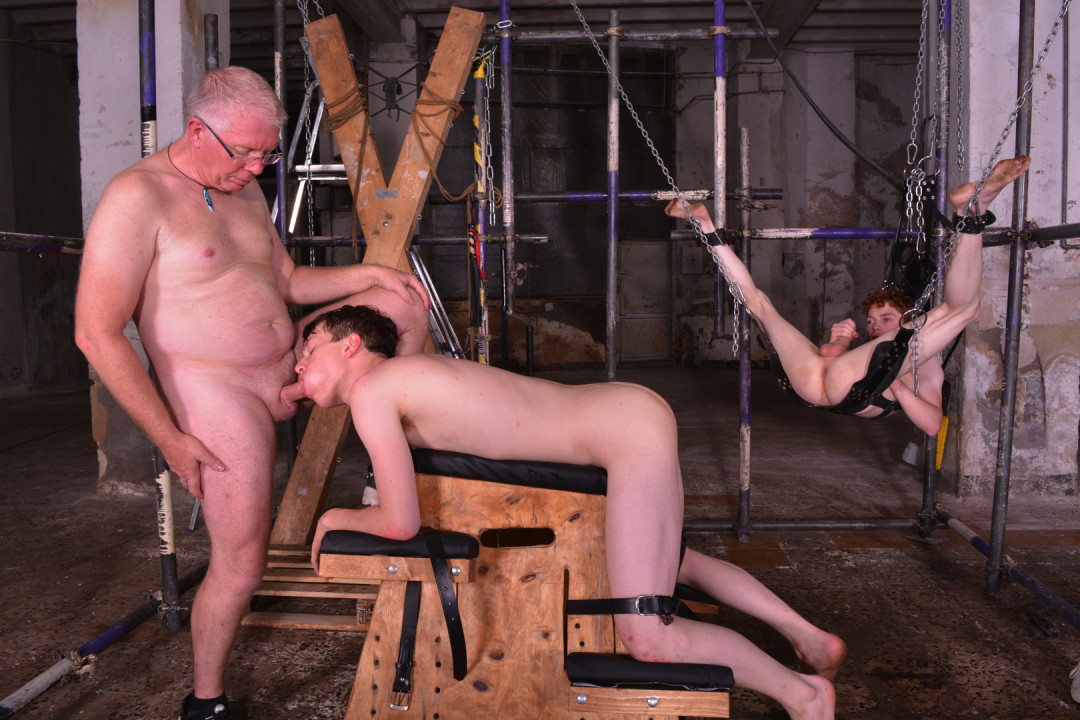 Little Gay Twinks hardly trained as gay slaves