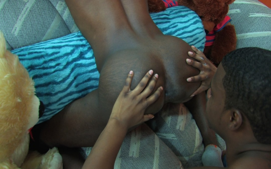 Young model's ass covered with spunk