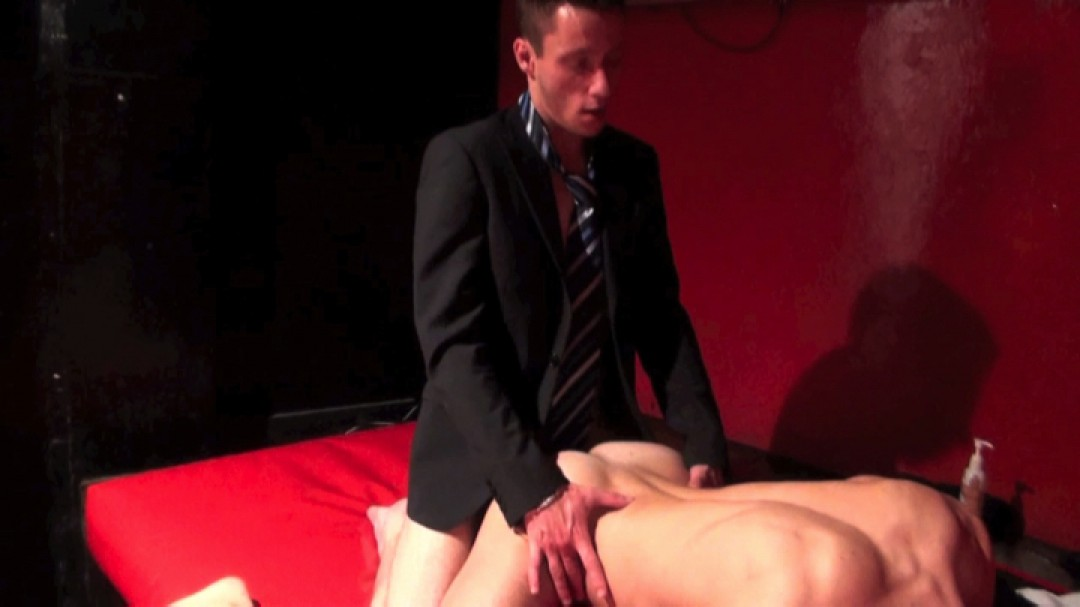 Suited salesman need to offload