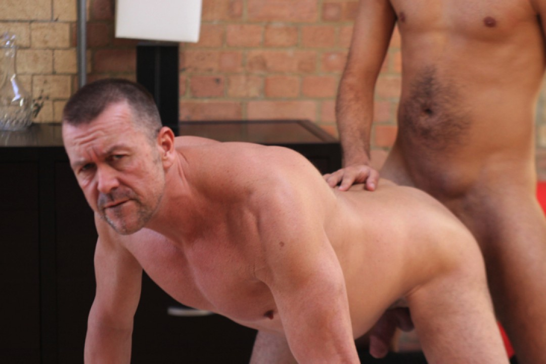 Butch biker up the boy's hole