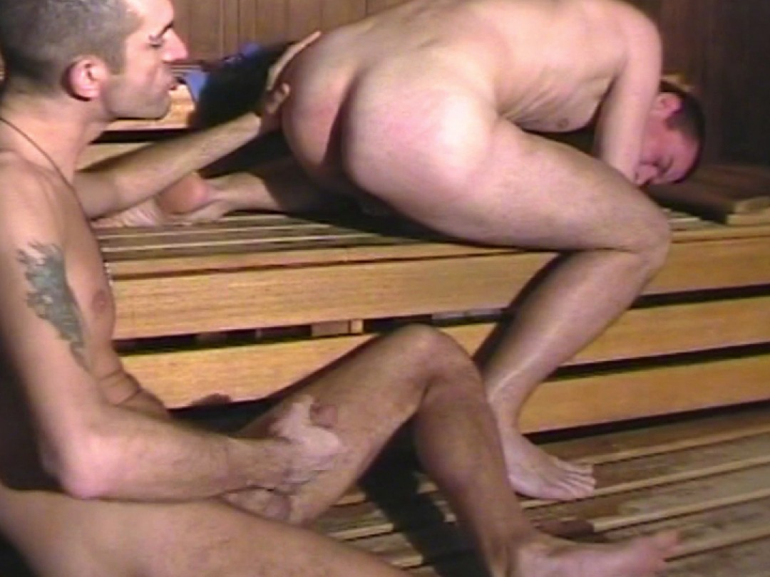 Hungry twink at the sauna
