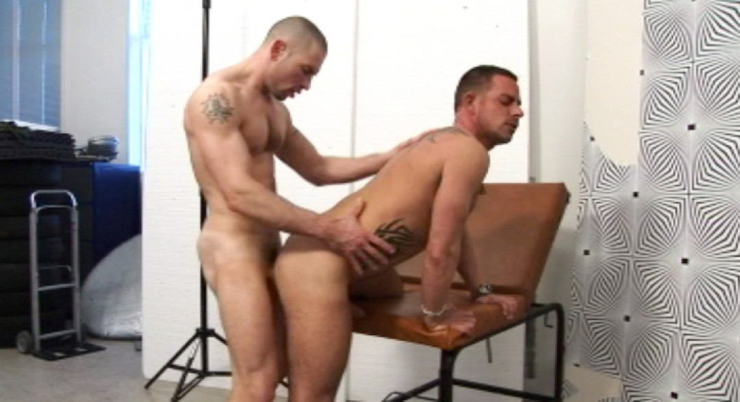 two butch studs in sexy photo casting