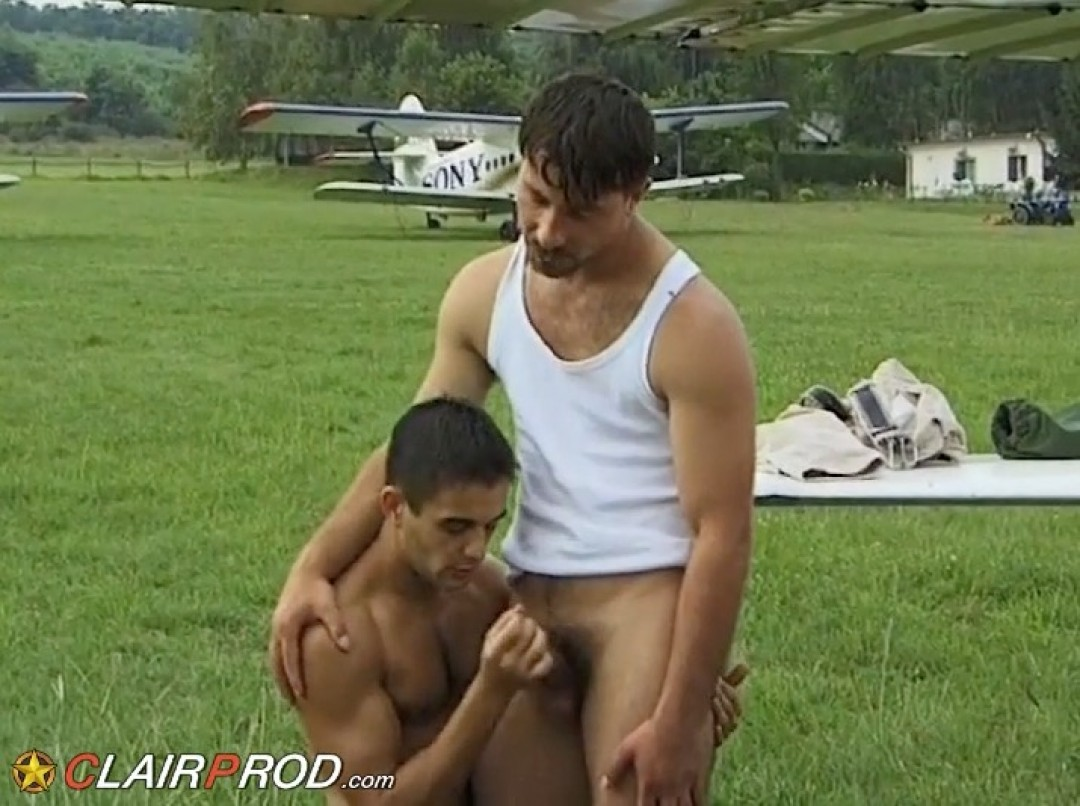 Young pilot's ass