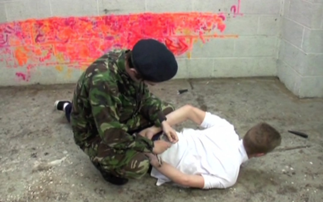 Virgin twink's violent initiation