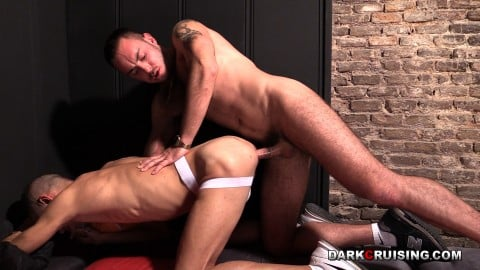 Gay slave is fucked rough by dominant master, hard kink video