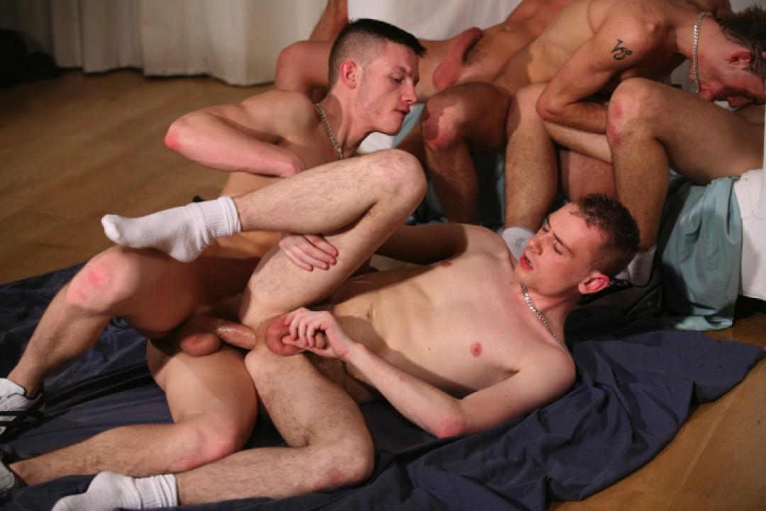 6 lad orgy