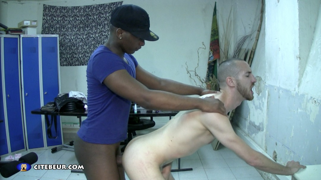 Very big and large black dick for Byron's ass