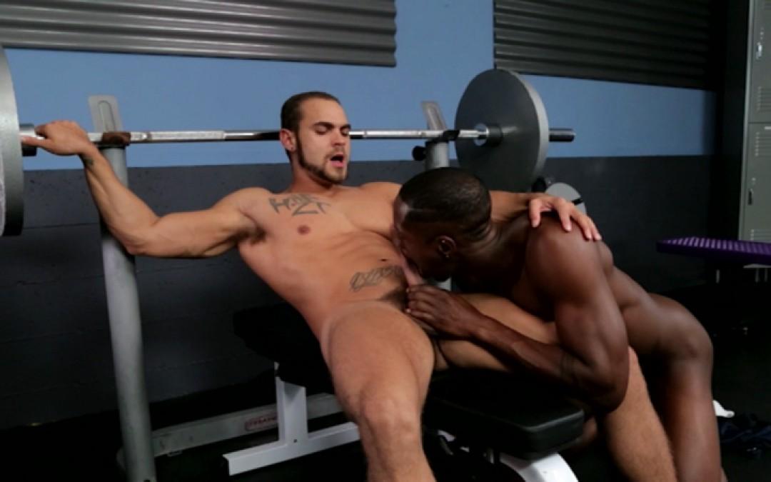 A huge black dick up the coach's hole