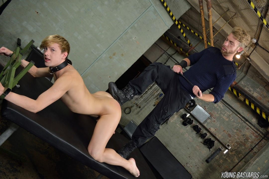 Bound twink slave dominated by his hung master