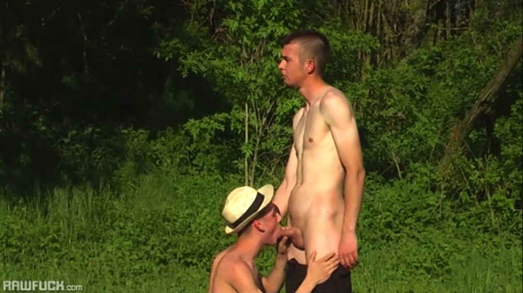 Blond boy for farmer's cock
