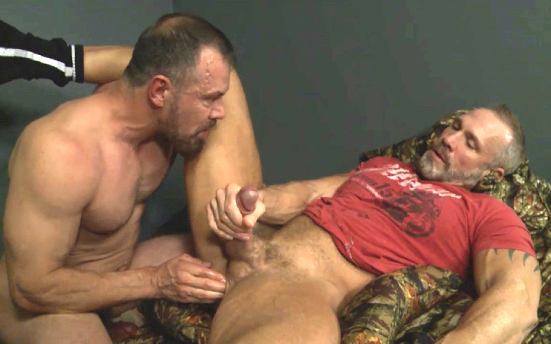 Gay Daddies Orgy at the Military Camp