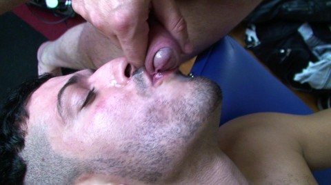 Young arab man takes a big cock in his mouth