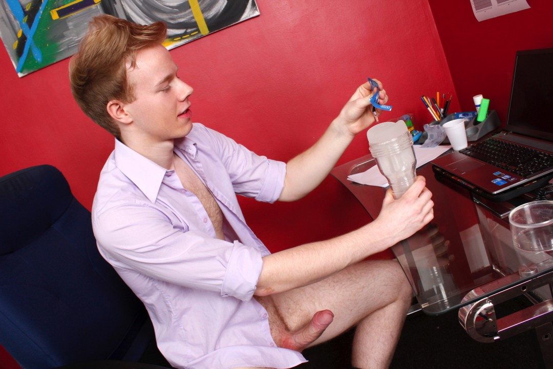 Gay working at home : let's cum !