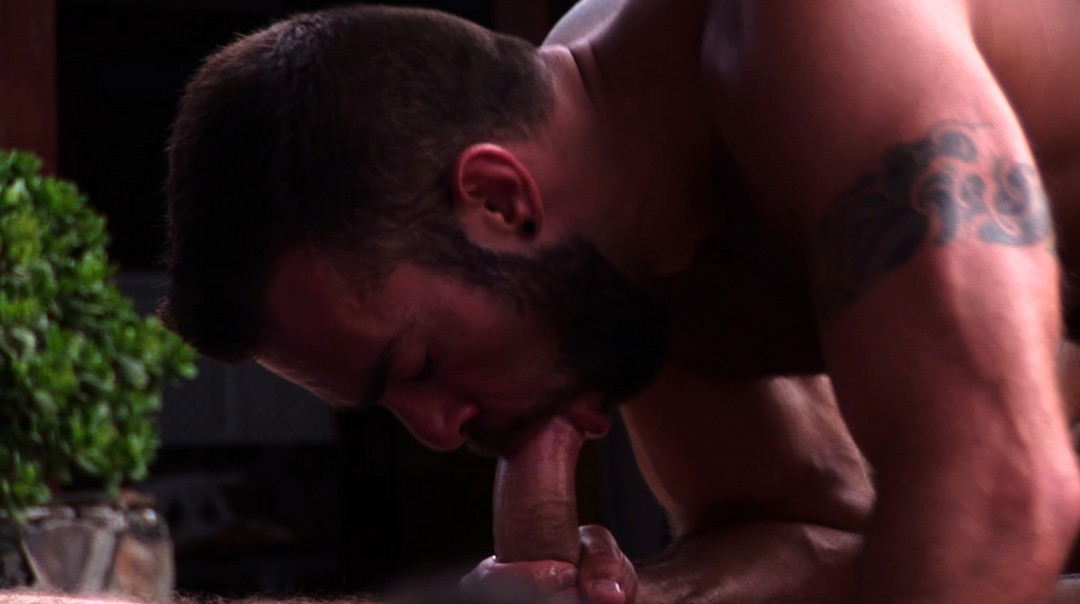 Gay Orgy with the bartender