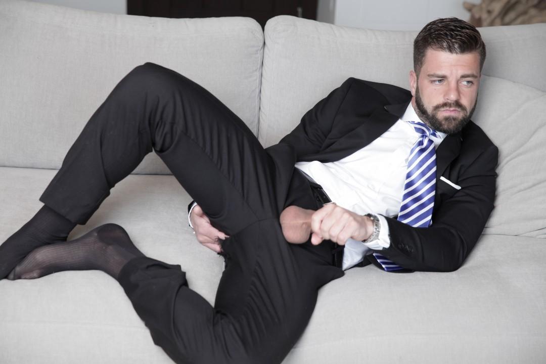Hector De Silva in suits and hard for MenAtPlay