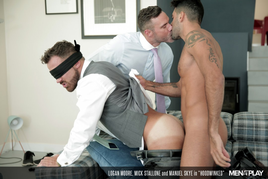 Logan Moore pounded by men in suits