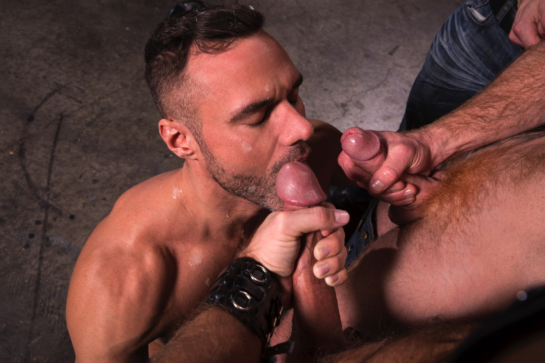 Gay Blow Job Party at the bar