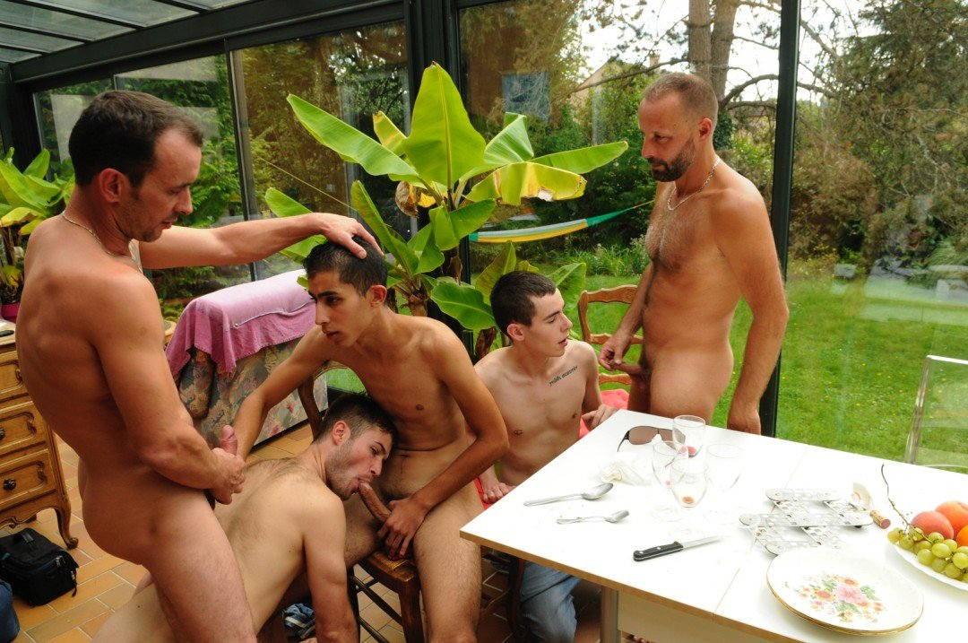 Cute Twink brought in for an orgy