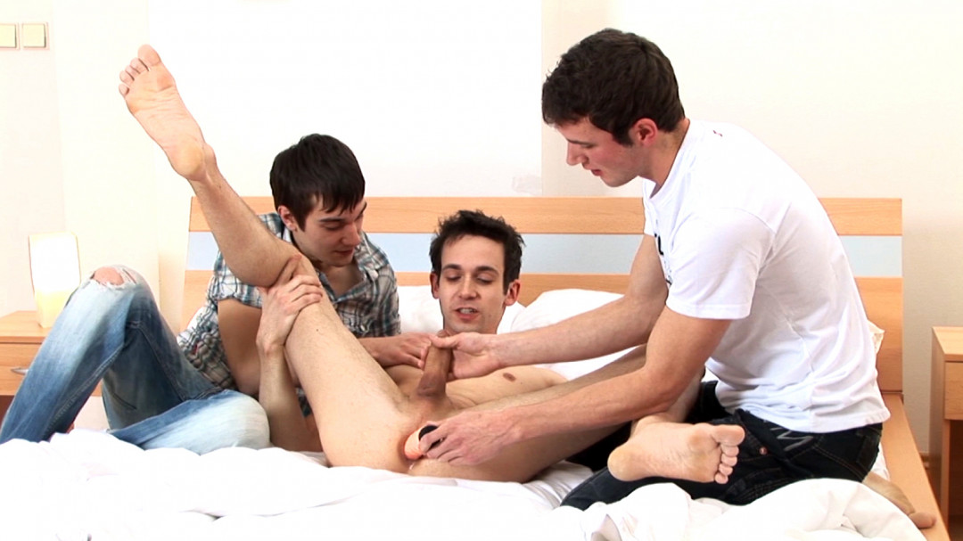 Caught by my gay roommates when playing with a dildo