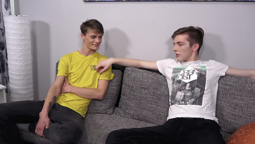 Two hot twinks, alone at home