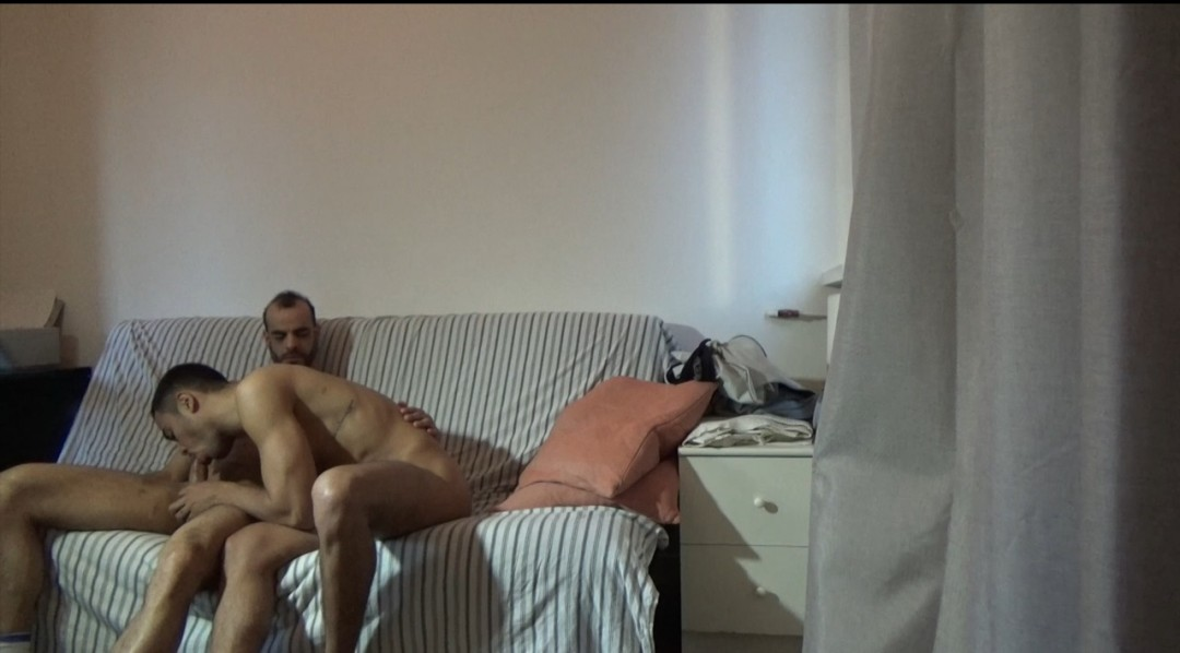 Webcam Backstage Apolo SANCHEZ fucked bareback by Ghislain