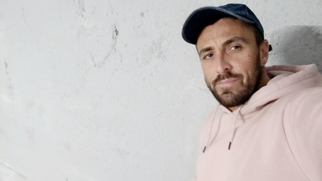 Mathieu Ferhati has a cumshot in a parking lot