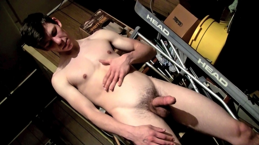 Pissing And Cumming In The Garage