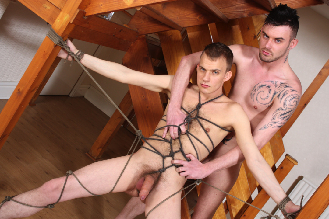 Gay twink used in a forced gay porn