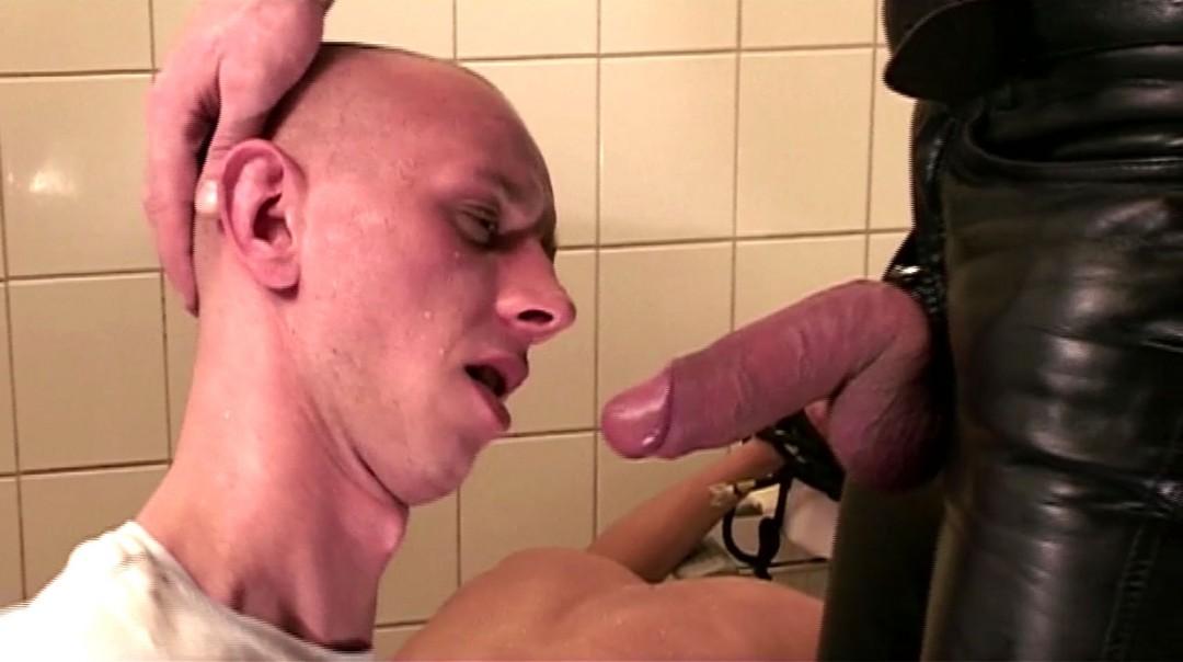 Leather Master in Berlin's public toilets