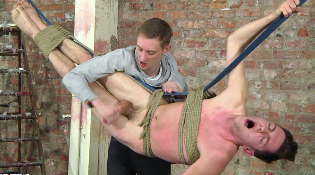 Edging the gay twink very hardly