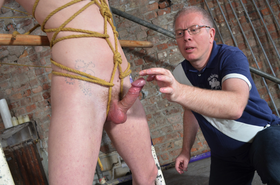 Young Twink Is Bound and Stripped To Be Used By Older Male