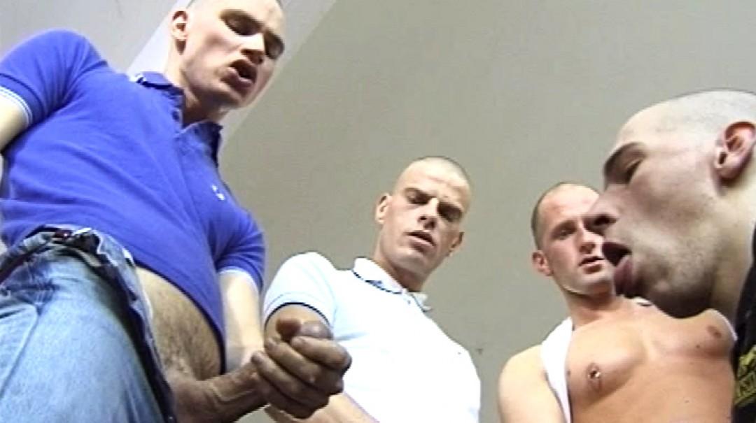 Young gay boy suck 4 big dicks of skinheads