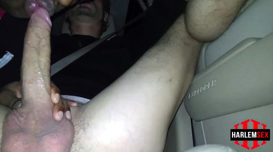 Another big cock sucked in car
