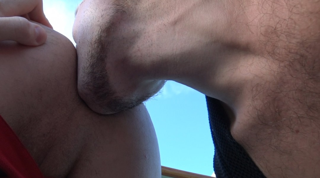 Asait slut fucked bareback by Maxene in the BOAT