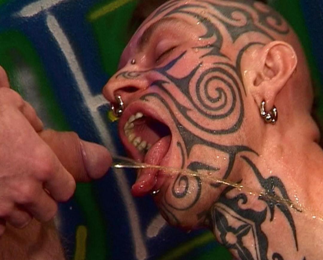 Hardcore uro slave, gangbanged and humiliated
