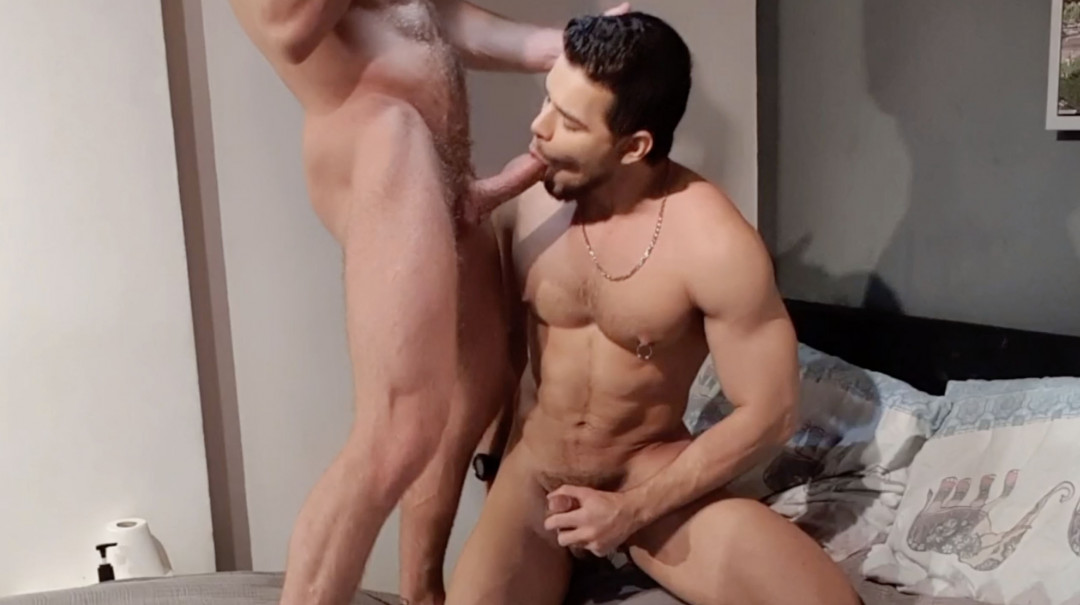Gabriel Phoenix gets fucked and gets fucked by a hot Latino man...