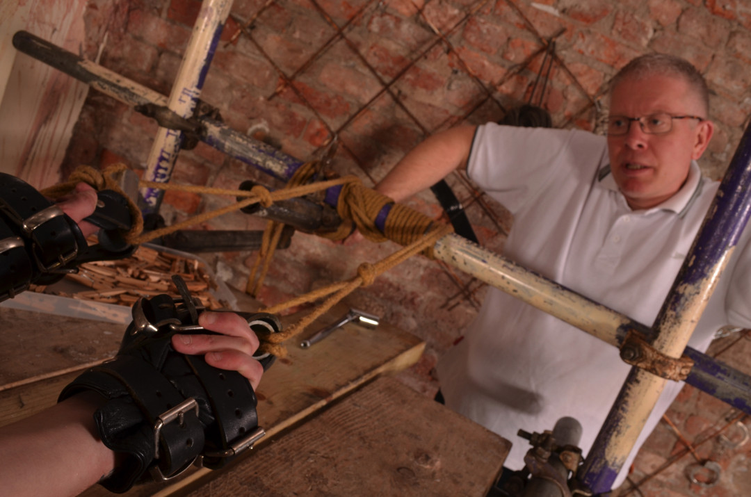 Twink Is Rope Tied, Clothes Pinned and Punished By Silver Daddy